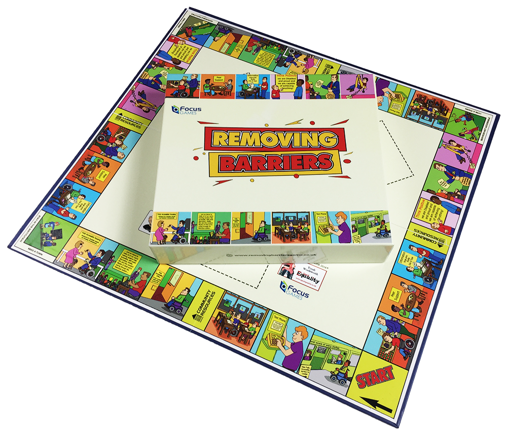 Removing Barriers Game Icon, Picture of Board and Box